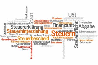 Foto: Tagcloud, Steuern, Staat